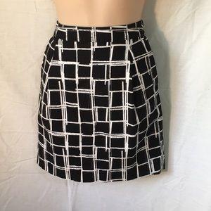 Gap black white cotton summer skirt size 0 NWOT
